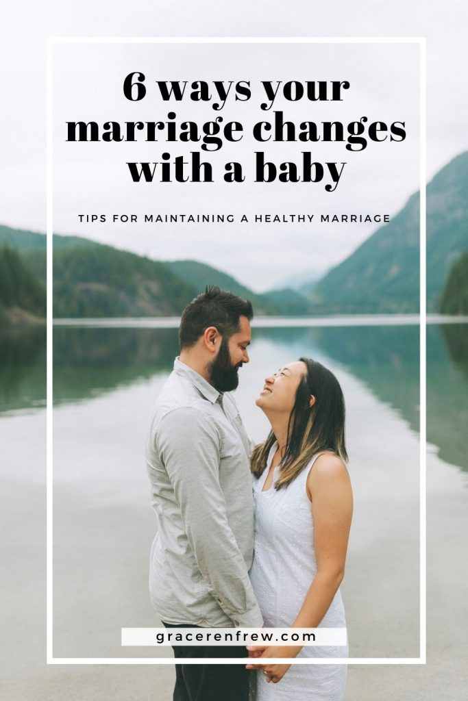 Many things will change after having a baby but prioritizing quality time and finding times for intimacy is important for maintain a healthy marriage.