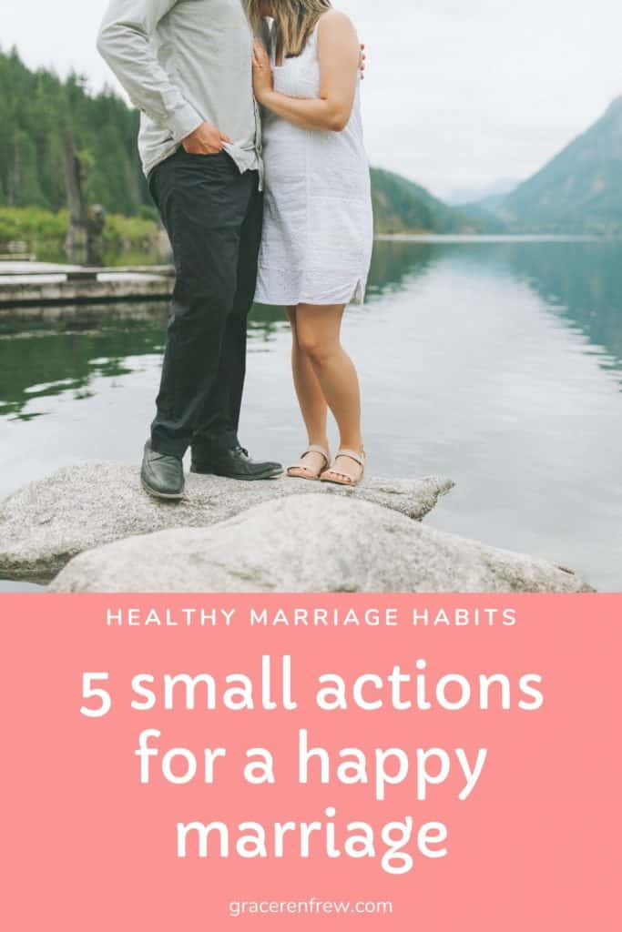 Getting married is one day in the lifespan of your marriage. Don't forget it isn't about getting married but staying married. Here are my 5 small actions for a happy marriage.