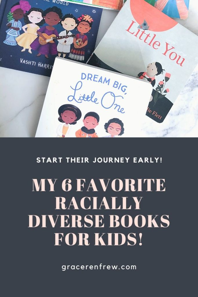 Start your child's journey and get them used to see faces of all colors early on. Check out my favorite racially diverse books for kids